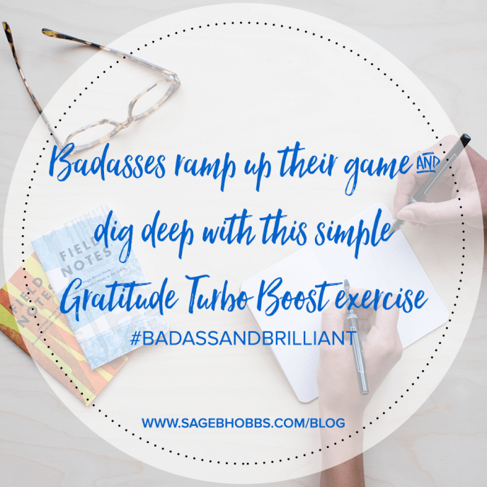 Want to turbo boost your gratitude?  Here's how…