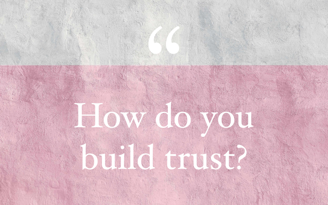 A kid, a cake, a car ride and building TRUST